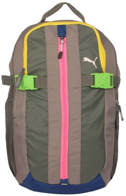 Puma Apex 10 L Large Backpack(Grey, Yellow, Pink)