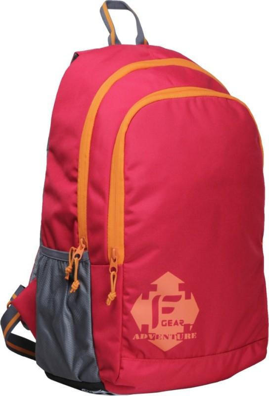 F Gear Castle Rugged Base 27 L Standard Backpack(Red, Orange)