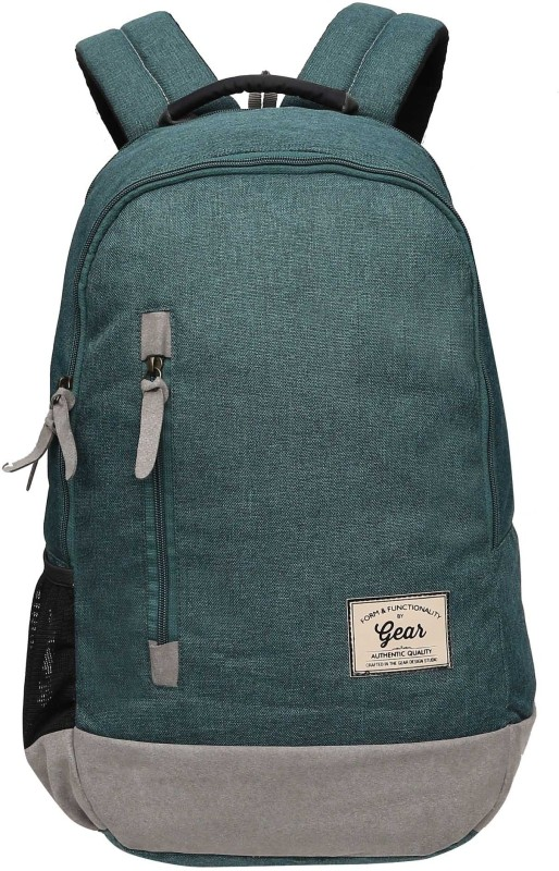 Gear Campus 8 Backpack Green Grey 24 L Backpack(Green)