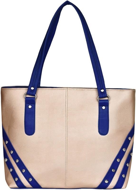 Look @me White with Royal Blue Design Shoulder Bag(White, 5 L)