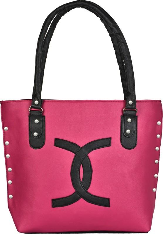 Look @me Pink with Black Classy Design Shoulder Bag(Pink, Black, 5 L)