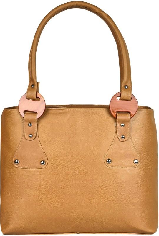 Look @me Brown With Beige handle Shoulder Bag(Brown, Beige, 5 L)
