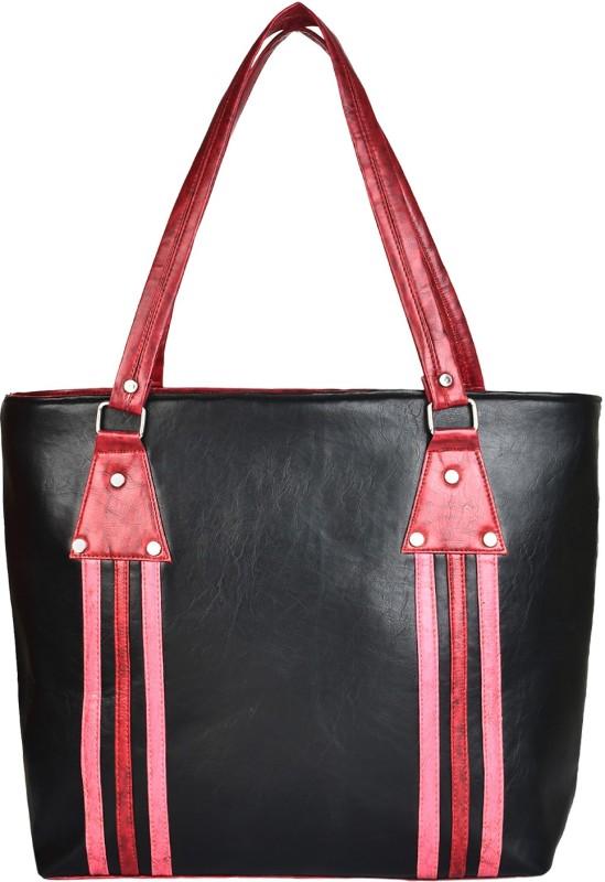 Look @me Black/Pink Shoulder Bag(Black, 5 L)