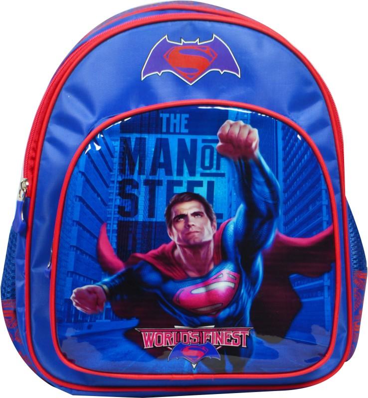 Batman vs Superman School Bag(Blue, 18 inch)