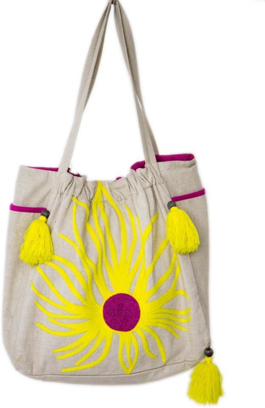 Reme RHB105 Shoulder Bag(Beige, 5 inch)