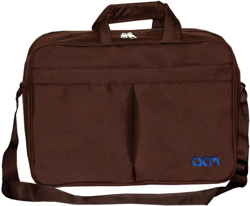 ACM 12 inch Expandable Laptop Messenger Bag(Brown)
