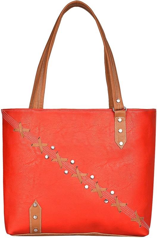 Look @me Orange with Brown Fowers and Strap Shoulder Bag(Orange, 5 L)