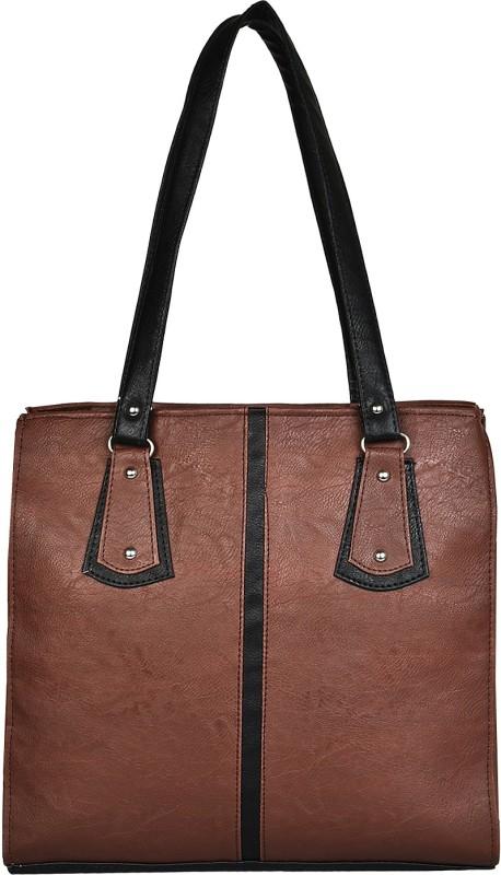Look @me Dark Brown with Black design and Strap Shoulder Bag(Brown, Black, 5 L)