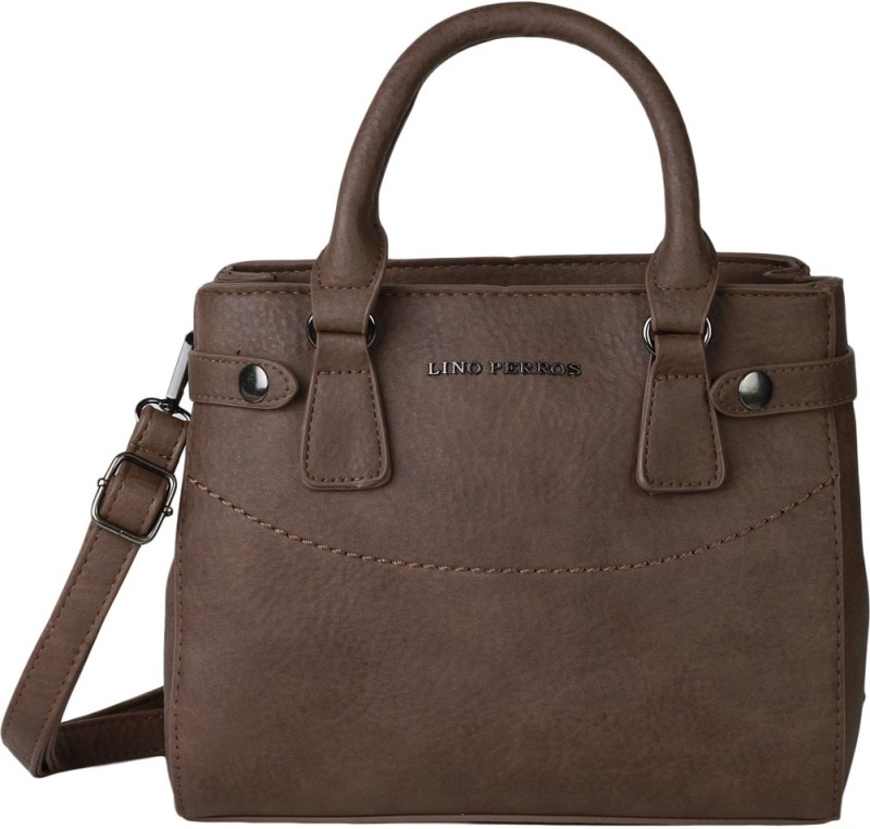 Lino Perros Shoulder Bag(Brown, 3 L) LWHB01879BROWN