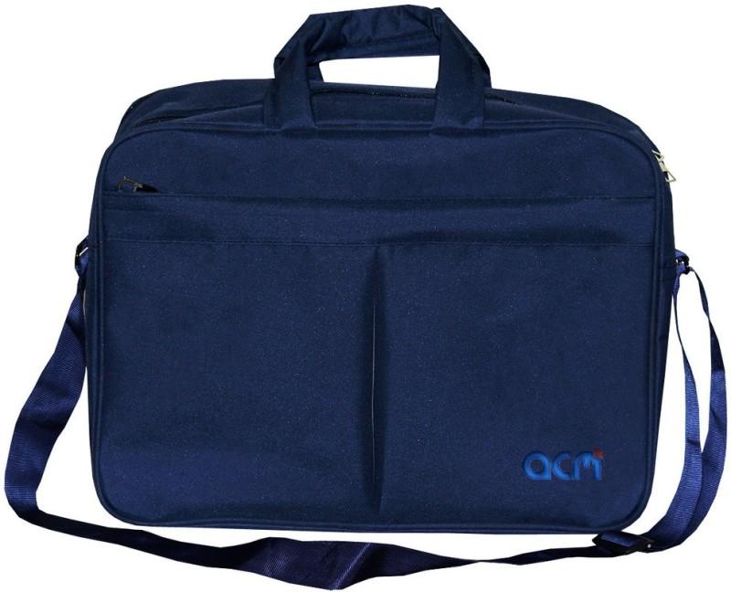 ACM 12 inch Expandable Laptop Messenger Bag(Blue)