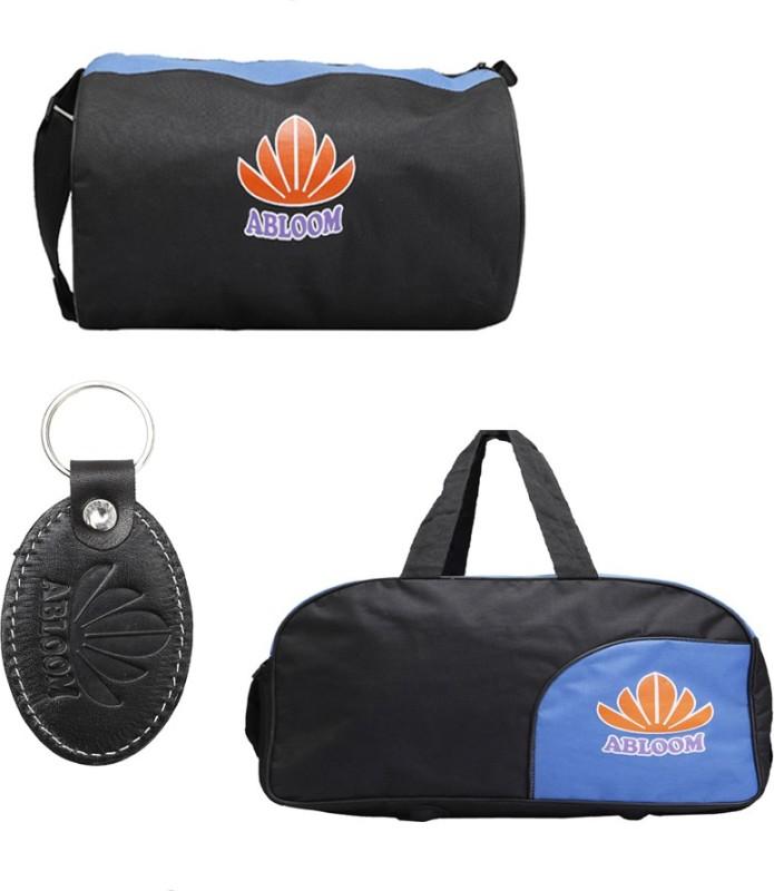 ABLOOM Gym Bag :: Duffle Bag Waterproof School Bag(Black, 1 inch)