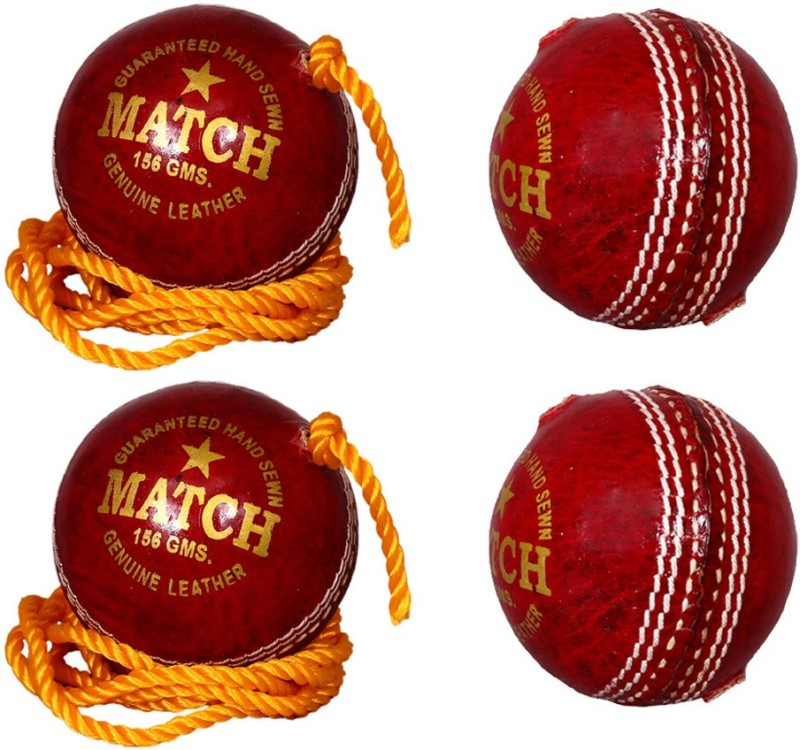 Priya Sports Practice Red Cricket Training Ball(Pack of 4, Red)