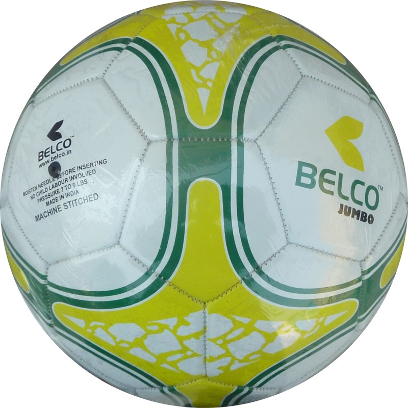 Belco Jumbo 3 Football - Size: 5(Pack of 1, Multicolor)