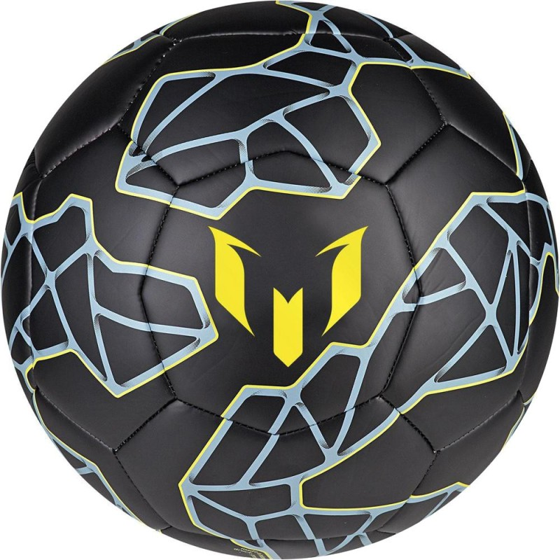 ADIDAS Messi Q3 Football - Size: 5(Pack of 1, Black, Silver, Yellow, Blue)