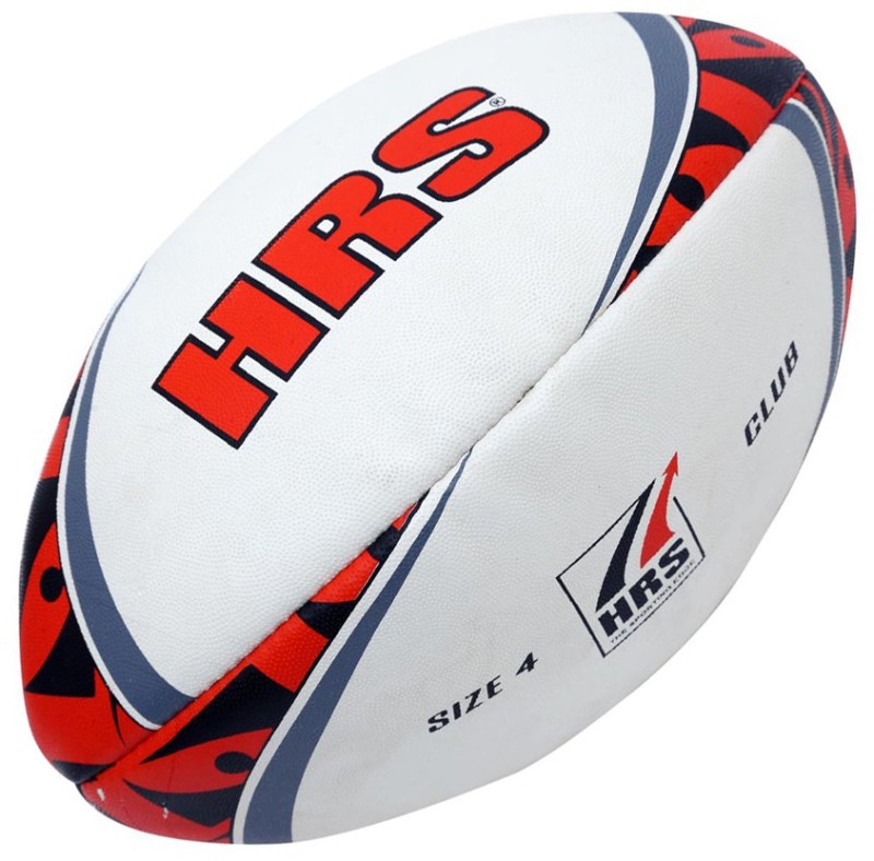 HRS Club Rugby Ball - Size: 4(Pack of 1, Multicolor)