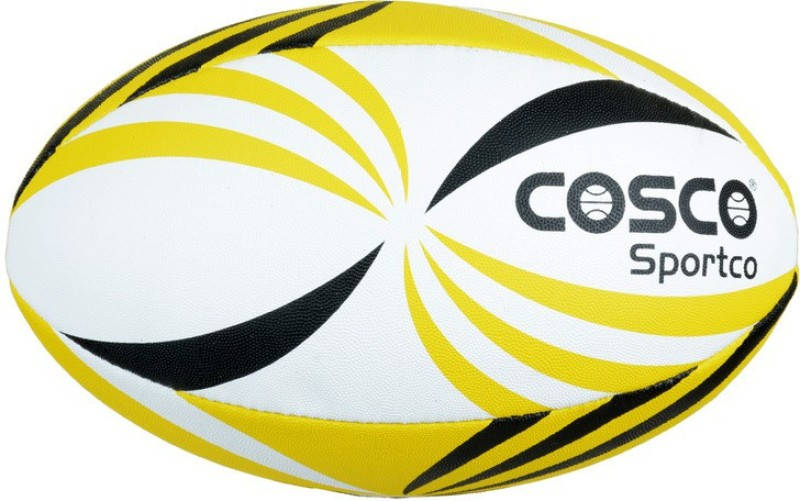 Cosco Sportco Rugby Ball - Size: 4(Pack of 1, Multicolor)
