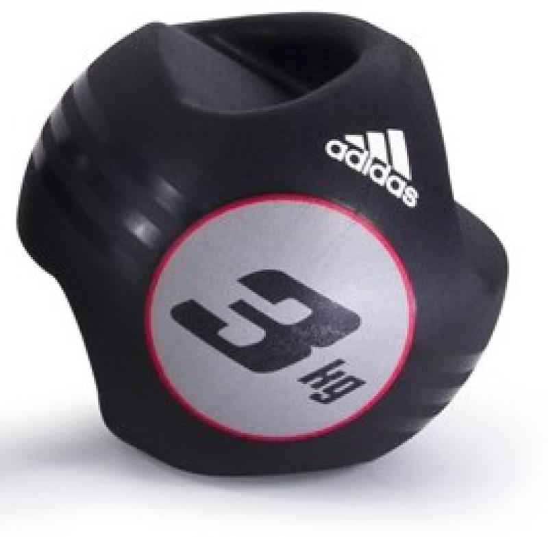 ADIDAS Dual Grip Medicine Ball - 3kg Medicine Ball(Weight:  3 Kg, Black)