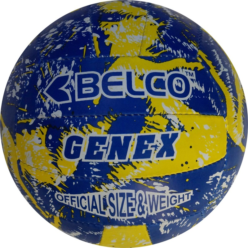 Belco Genex Volleyball - Size: 5(Pack of 1, Multicolor)