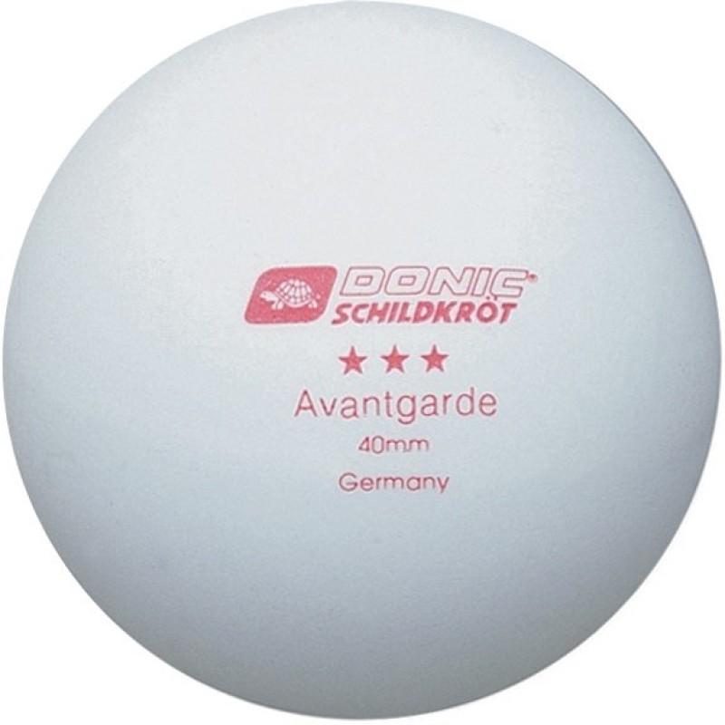 Donic Avantgrade 3 Star Table Tennis Ball(Pack of 6, White)
