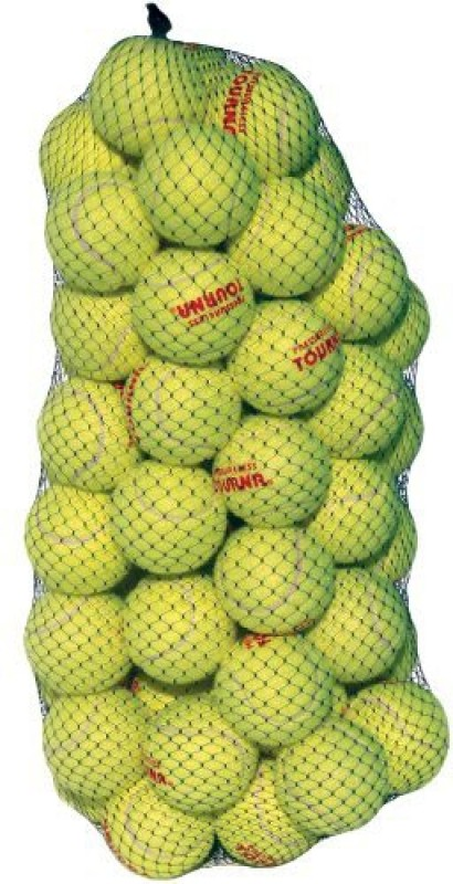 Tourna Pressure Less Ball Tennis Ball(Pack of 60, Yellow)