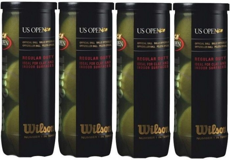 Wilson US Open Tennis Ball(Pack of 4, Multicolor)