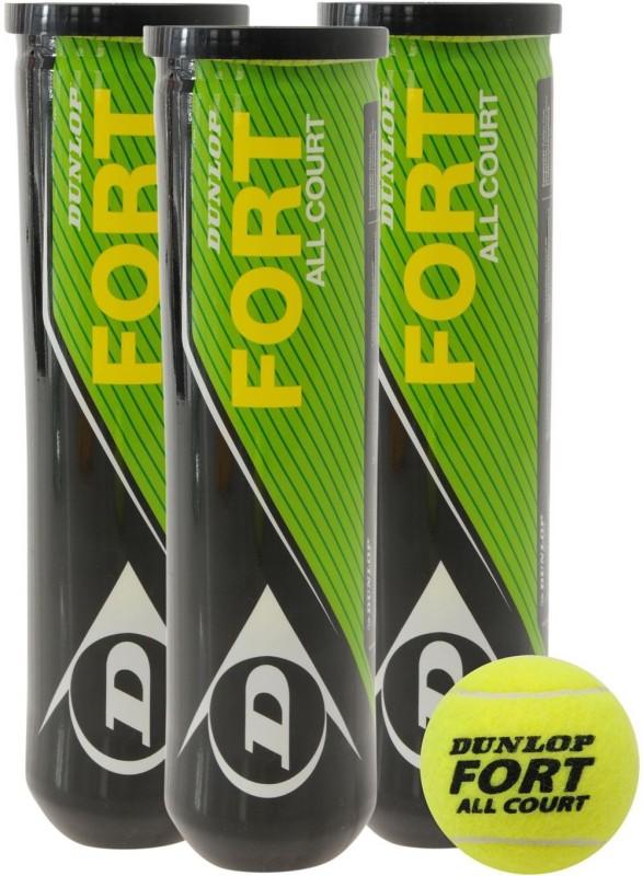 Dunlop Fort Tennis Ball(Pack of 6, Yellow)
