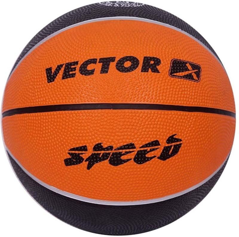 Vector X BB-SPEED-ORG-BLK-7 Basketball - Size: 7(Pack of 1, Orange, Black)