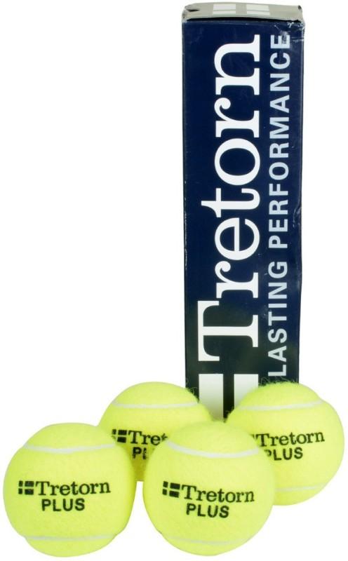 Cosco Plus Tennis Ball(Pack of 4, Yellow)