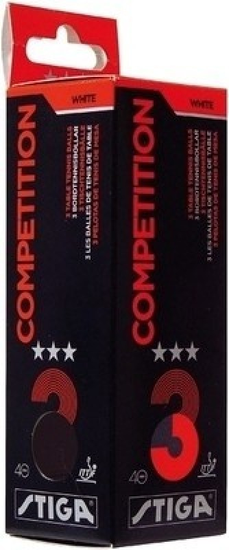 Stiga Competition 3 Star Table Tennis Ball(Pack of 3, Orange)