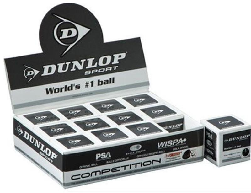 Dunlop Single Dot Squash Ball Squash Ball(Pack of 12, Black)