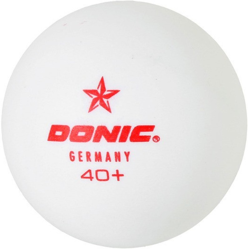 Donic 1 Star Ping Pong Ball(Pack of 6, White)
