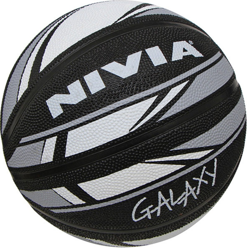Nivia Galaxy Basketball - Size: 6(Grey, Black)