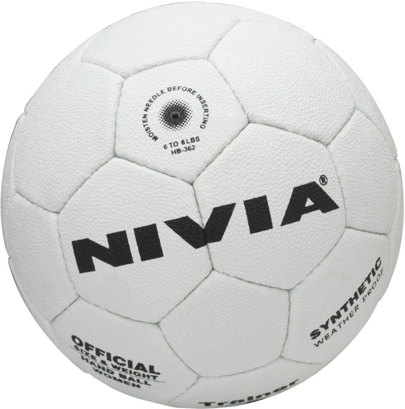 Nivia Trainer Handball(White, Black)