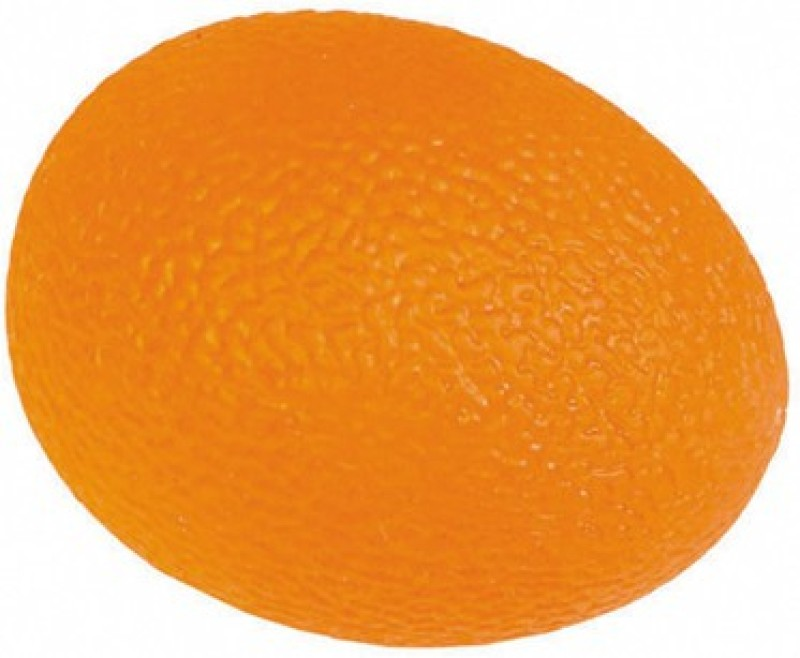 acco Egg Shaped Hand Exerciser Ball -Orange(Firm) Handball(Pack of 1, Orange)