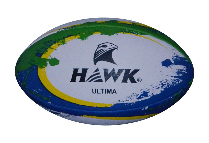 HAWK Ultima Rugby Ball - Size: 5(Pack of 1, White)