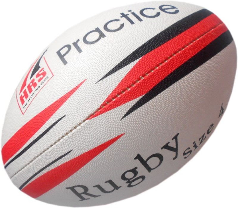 HRS Practice Rugby Ball - Size: 4(Pack of 1, Multicolor)