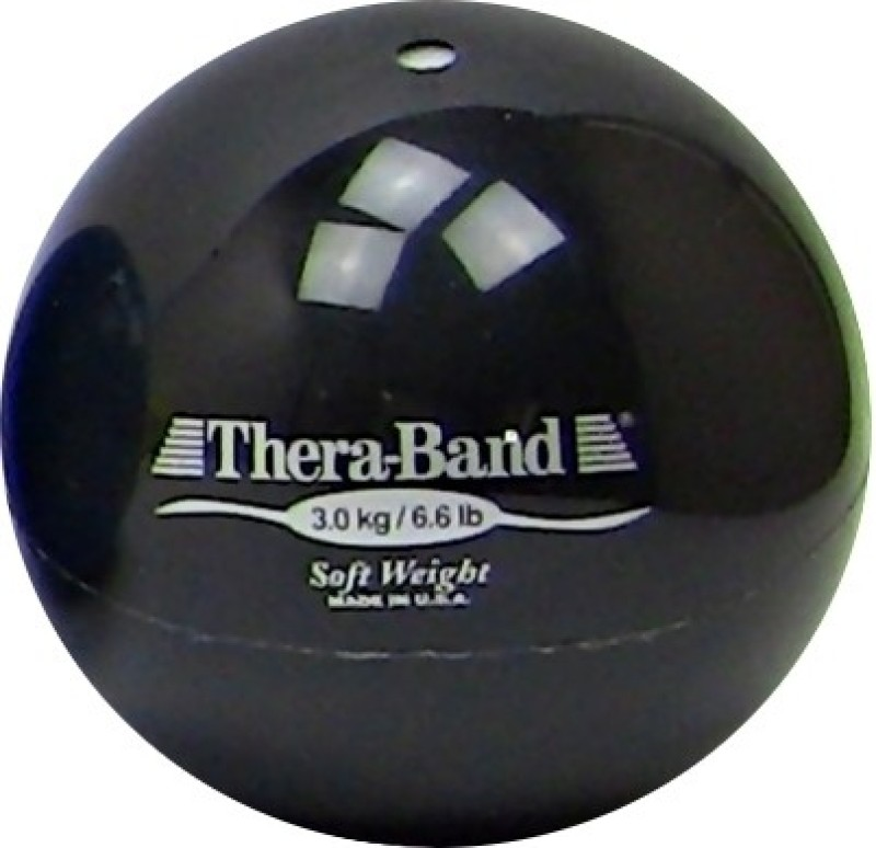 Thera-Band Soft Weight Medicine Ball(Weight:  3 Kg, Black)