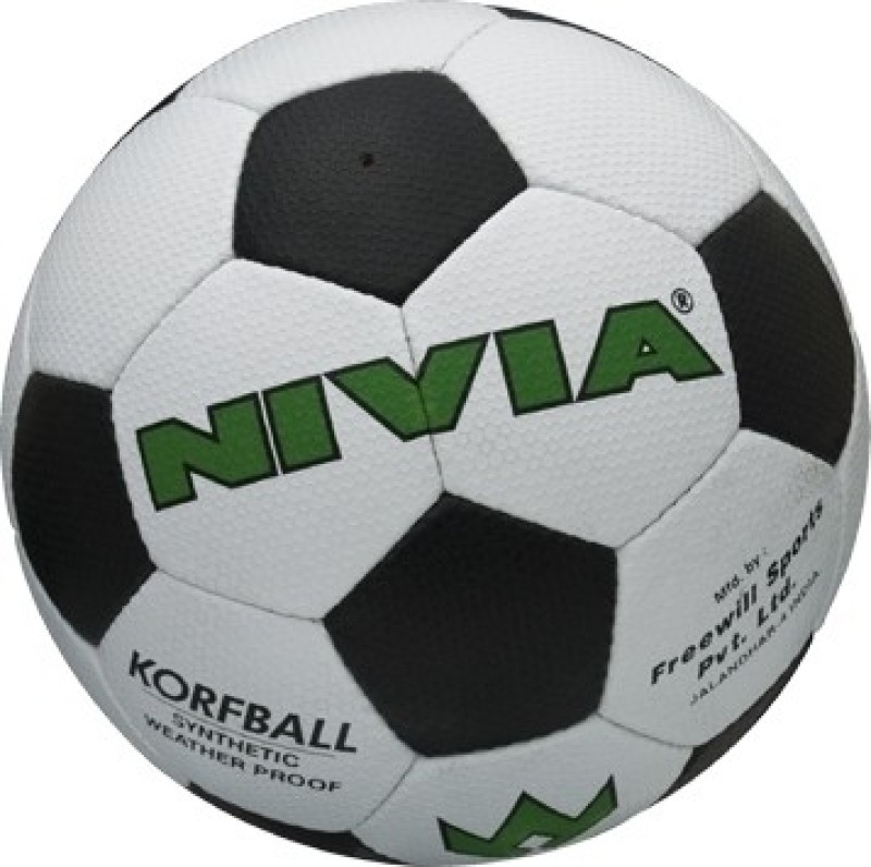Nivia Korf Ball(Pack of 1, White, Black)