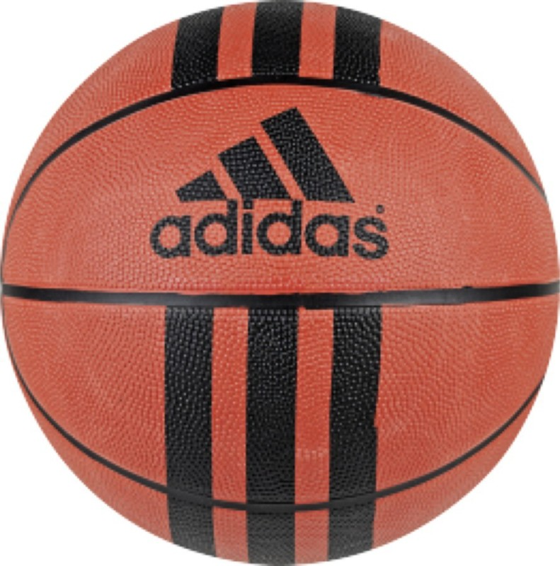 Adidas 3 Stripes Basketball - Size: 7(Pack of 1, Brown)