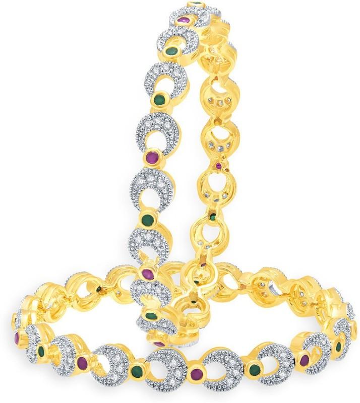 Sukkhi Alloy 18K Yellow Gold Bangle Set(Pack of 2)