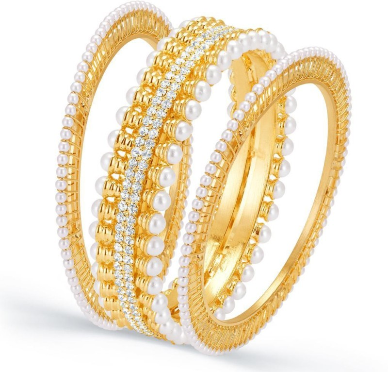 Sukkhi Alloy Gold-plated Bangle Set(Pack of 3)