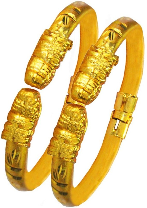 Being Women Brass Yellow Gold Bangle Set(Pack of 2)