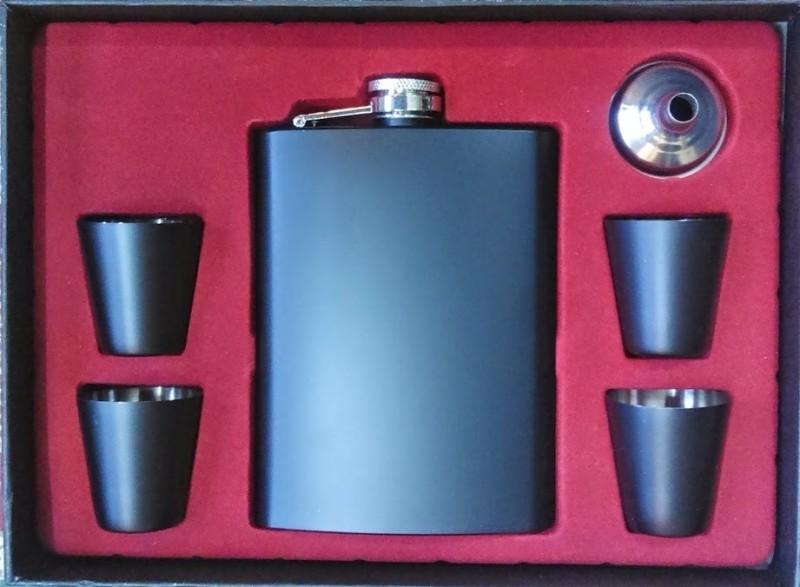 Pia International 7oz Black Color Coated Matte Finish Bar Set(Stainless Steel)
