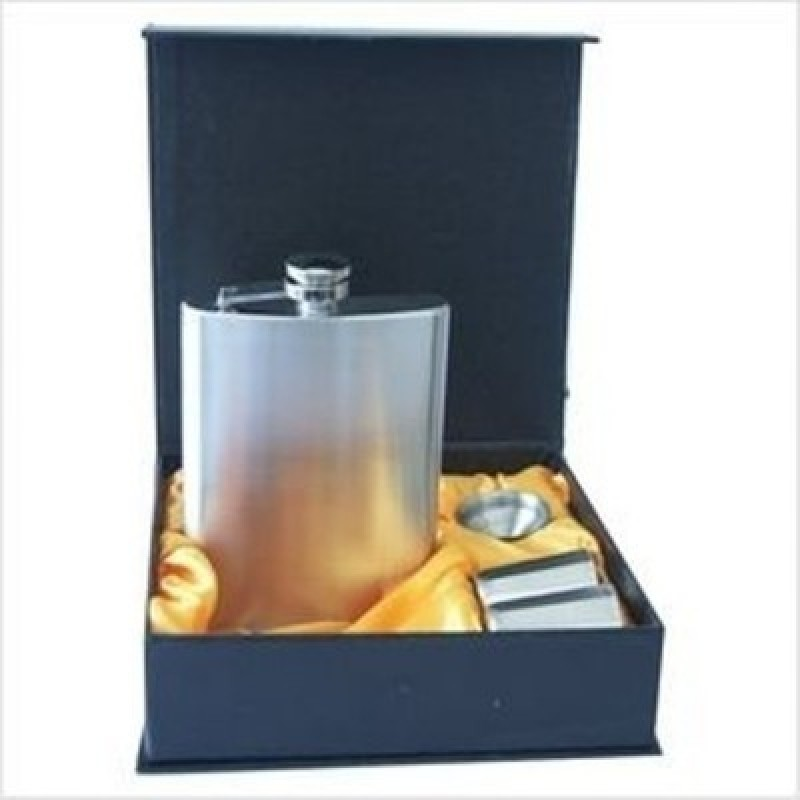 Pia International 70Z HIP FLASK GIFT SET Bar Set(Stainless Steel)