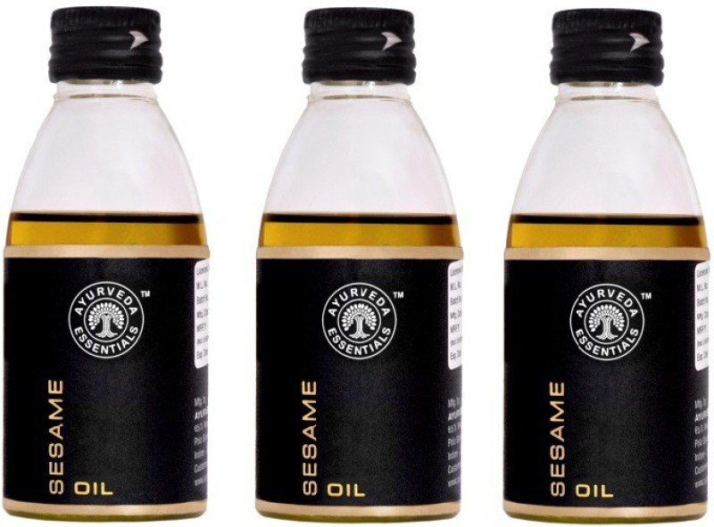 Ayurveda Essentials 100% Pure, Natural and Cold Pressed Sesame Oil 100 ml x 3 offer(300 ml)
