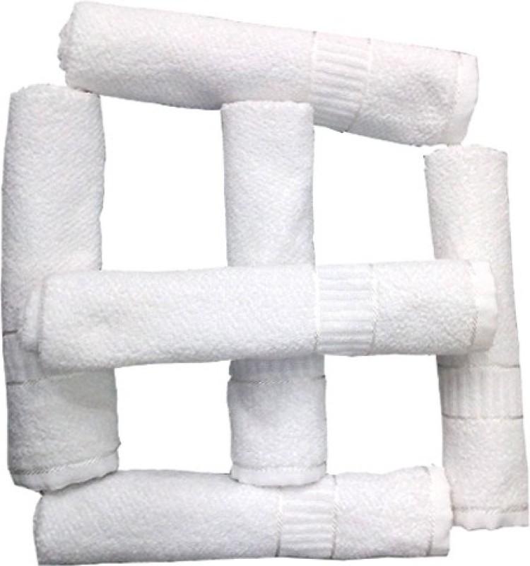 Alagh Fashions 6 Piece Cotton Bath Linen Set(White, Pack of 6)