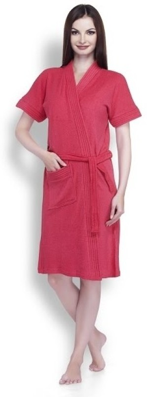 Sand Dune Red Large Bath Robe(1, For: Women, Red)