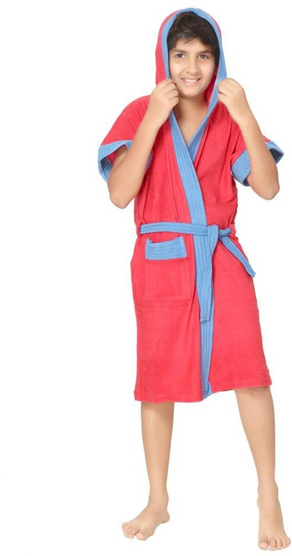 Sand Dune Red Free Size Bath Robe(1, For: Boys, Red)