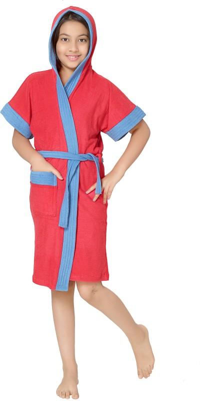 Sand Dune Red Free Size Bath Robe(1 Kids Bathrobe, For: Baby Boys & Baby Girls, Red)