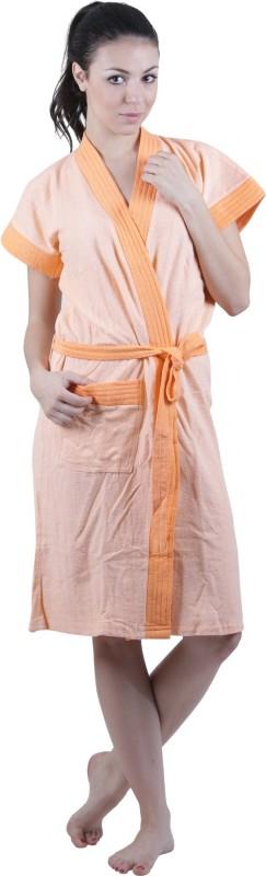 Vixenwrap Orange Free Size Bath Robe(1 bathrobe, For: Women, Orange)